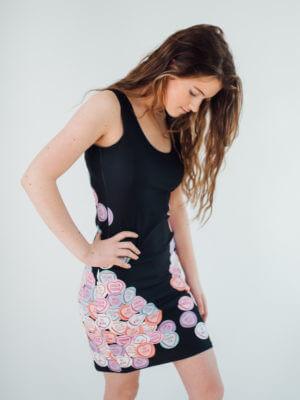 Joaquin Phoenix love hearts body con dress
