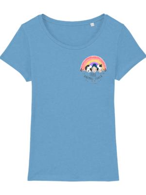 Vegan Animal Lover T-shirt in Azur Blue