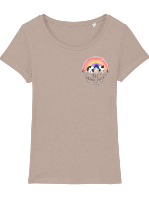 Vegan Animal Lover T-Shirt in Faded Nude