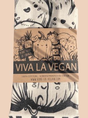 Packed vegan Tea Towel. 100% Cotton Cotton by eco-ethical brand Viva La Vegan