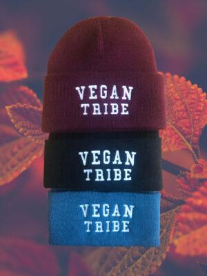Vegan tribe beanie in 3 colour options by eco-ethical brand Viva La Vegan