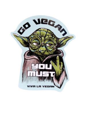 Yoda knows -Go vegan you must, vinyl sticker by eco-ethical brand Viva La Vegan