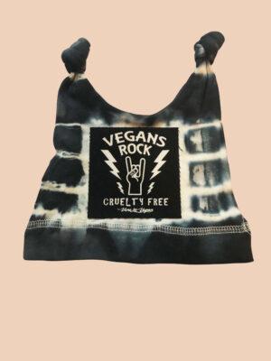 Organic cotton Tie-tye vegans rock knot hat