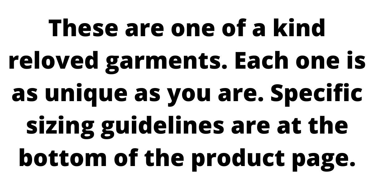 instructions regarding sizing