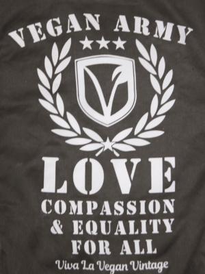 Vegan Jacket close up of print
