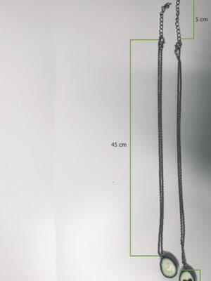 avocado necklace set dimensions