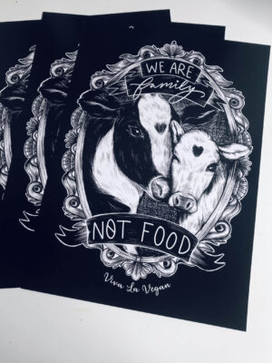 We are family not food A4 Art print