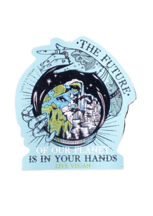 The Planets future is in your hands Vinyl Sticker