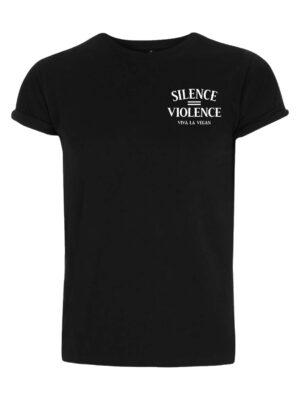 Silence equals violence organic tshirt by Viva La Vegan
