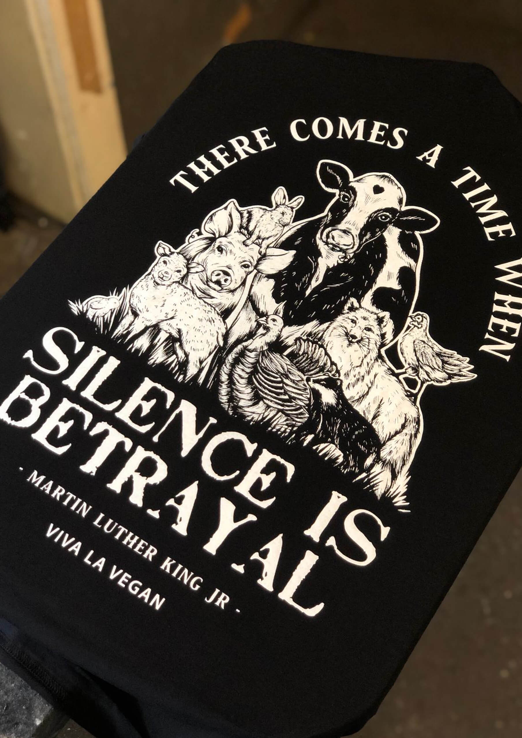 Silence equals violence print detail