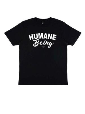 humane being organic tshirt in colour wayblack