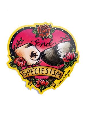 End Specisism - Vegan Vinyl sticker by Viva La Vegan