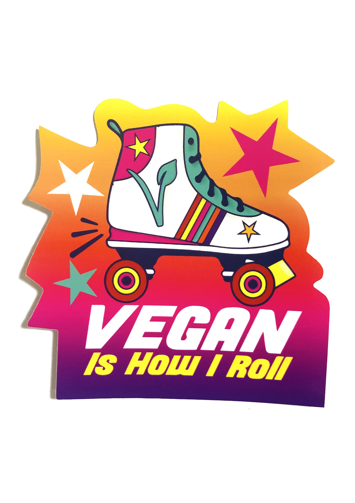 This is How I roll - Vegan Vinyl sticker by Viva La Vegan
