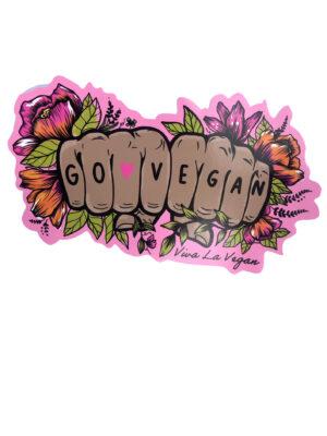 Go Vegan Tattoo Hands Vinyl Sticker by Viva La Vegan