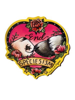 End speciesism shaped magnet by Viva La Vegant