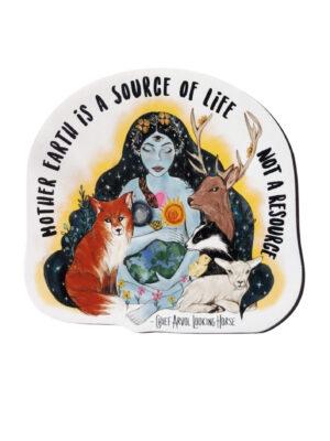 Mother earth shaped vegan magnet by Viva La Vegan