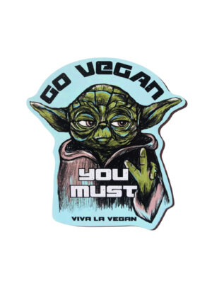 Yoda knows shaped magnet by Viva La Vegan