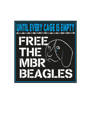Free The MBR Beagles. Until Every Cage Is Open Vinyl Sticker