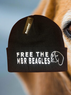 Free The MBR Beagles Wool free Beanie by Viva La Vegan