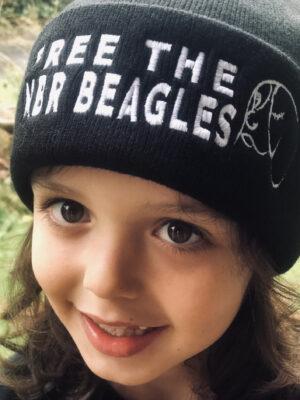 Free the MBR beagles beanie By Viva La Vegan